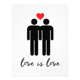 Love is Love (Men) + Heart Letterhead