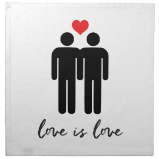 Love is Love (Men) + Heart Napkin