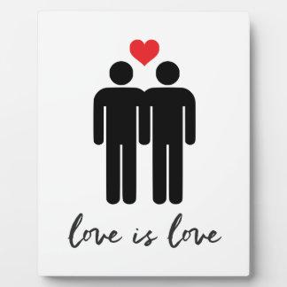 Love is Love (Men) + Heart Plaque