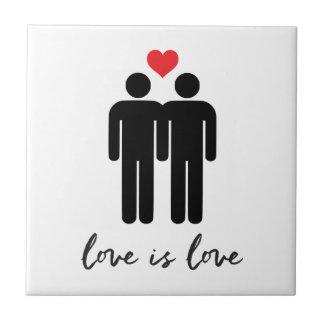 Love is Love (Men) + Heart Tile