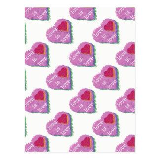 Love is Love Multi-Heart Postcard