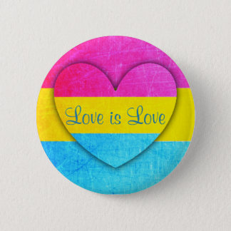 Love is Love Pansexual Flag  Button