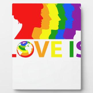 Love Is Love Plaque