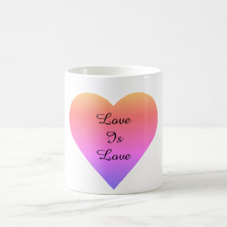 Love is Love Rainbow Heart Coffee Mug
