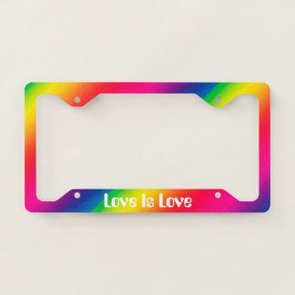 Love Is Love Rainbow License Plate Frame