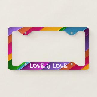 Love is Love Rainbow License Plate Frames