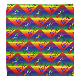 LOVE IS LOVE RAINBOW TILE ~ BANDANA