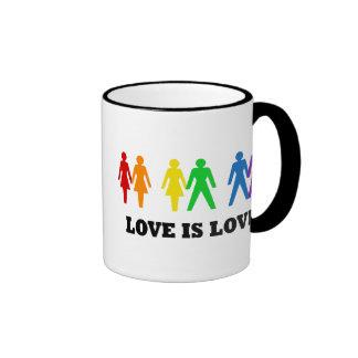 Love is Love Ringer Coffee Mug