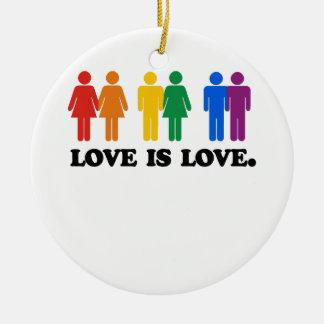 Love is Love Round Ceramic Ornament