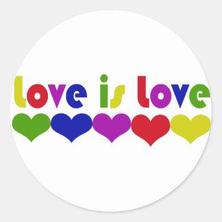 Love is Love Round Stickers