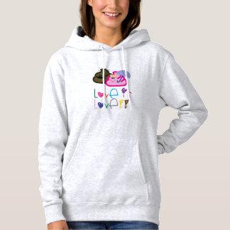 Love is Love T-Shirt: Poo & Icecream Loving Couple Hoodie