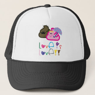 Love is Love T-Shirt: Poo & Icecream Loving Couple Trucker Hat
