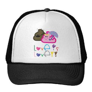 Love is Love T-Shirt: Poo & Icecream Loving Couple Trucker Hat