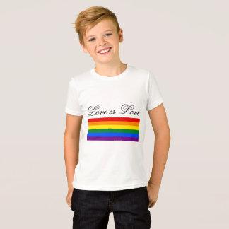 Love is Love Typography Gay Pride LGBT Rainbow T-Shirt
