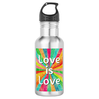 Love is Love Water Bottle Tumbler Stainless Steel