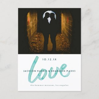 Love is Love Watercolor Gay Wedding Announcements
