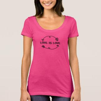 Love is Love Women's Next Level Scoop Neck T-Shirt