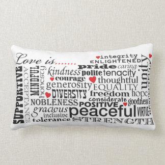 Love Is Love, Words Matter Lumbar Pillow