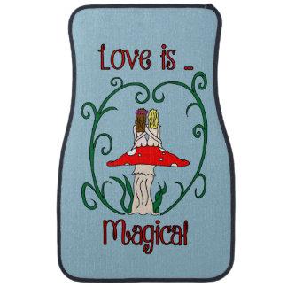 Love is Magical Lesbian Faeries Auto Mat