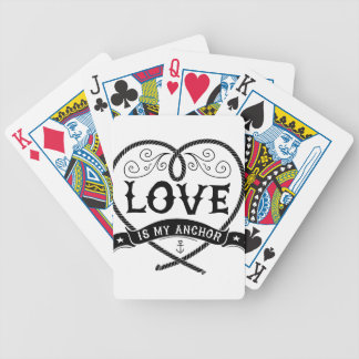 Love_is_my_anchor Bicycle Playing Cards