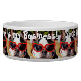 LOVE IS MY BUSINESS - SHOP OPEN - dog dish