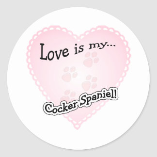 Love is my Cocker Spaniel - Sticker