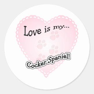 Love is my Cocker Spaniel - Sticker