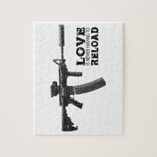 Love is Never Having To Reload AR-15 Jigsaw Puzzle