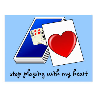 Love is Not a Card Game Slop Playing with My Heart Postcard
