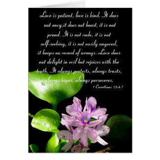 Love is patient.... greeting card