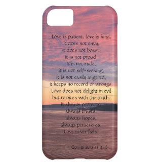 Love is Patient, Corinthians, Ocean Sunset Cover For iPhone 5C