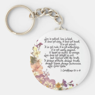 Love is patient keychain