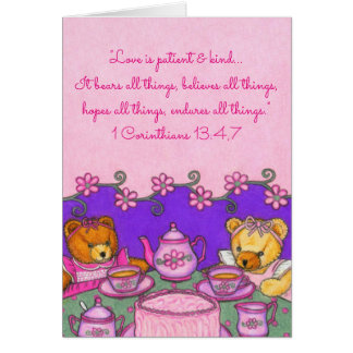 Love is Patient & Kind~Bears all things~Scripture Card