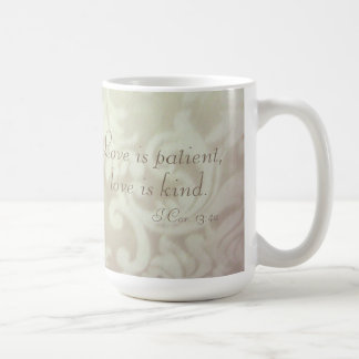 Love is Patient, Kind Mocha Paisley Ceramic Mug NE