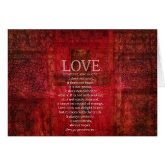 Love Is Patient Love Is Kind Bible Verse Card