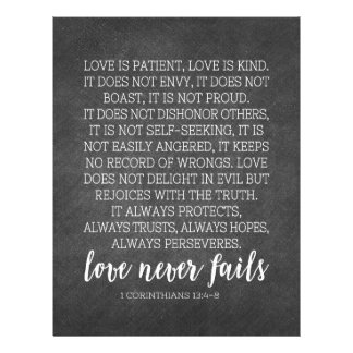 Love is Patient Love is Kind Print Custom Letterhead
