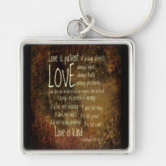 Love Is Patient Mixture Keychain
