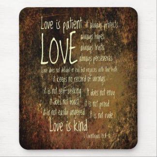 Love Is Patient Mixture Mouse Pad