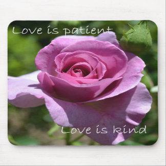 Love is Patient Mouse Pads