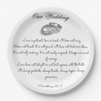 Love is Patient Paper Plate