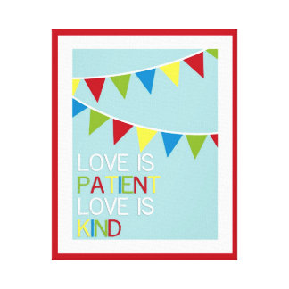 Love Is Patient Playroom Art Canvas Print