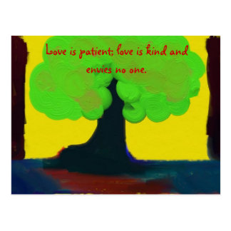 Love Is Patient Postcard