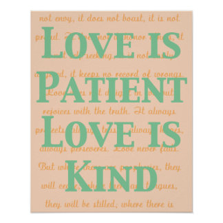 Love is Patient Poster