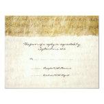 Love is Patient Vintage Wedding RSVP Personalized Announcements