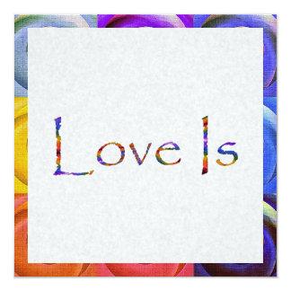 Love Is Rainbow Card