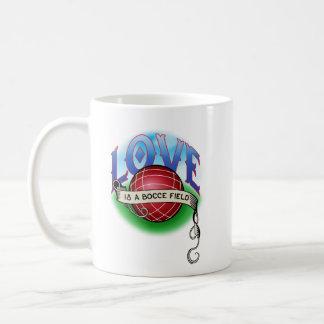 Love is s Bocce Field Coffee Mug