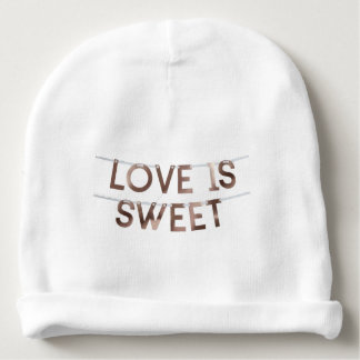 love is sweet Baby Cotton Beanie Baby Beanie