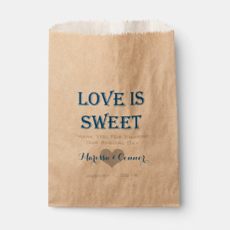 Love Is Sweet Blue and Grey Wedding Bags