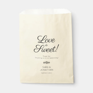 Love is Sweet | Calligraphy Wedding Favour Bag
