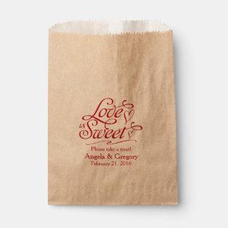 Love is Sweet Candy Buffet Dessert Buffet Wedding Favour Bag